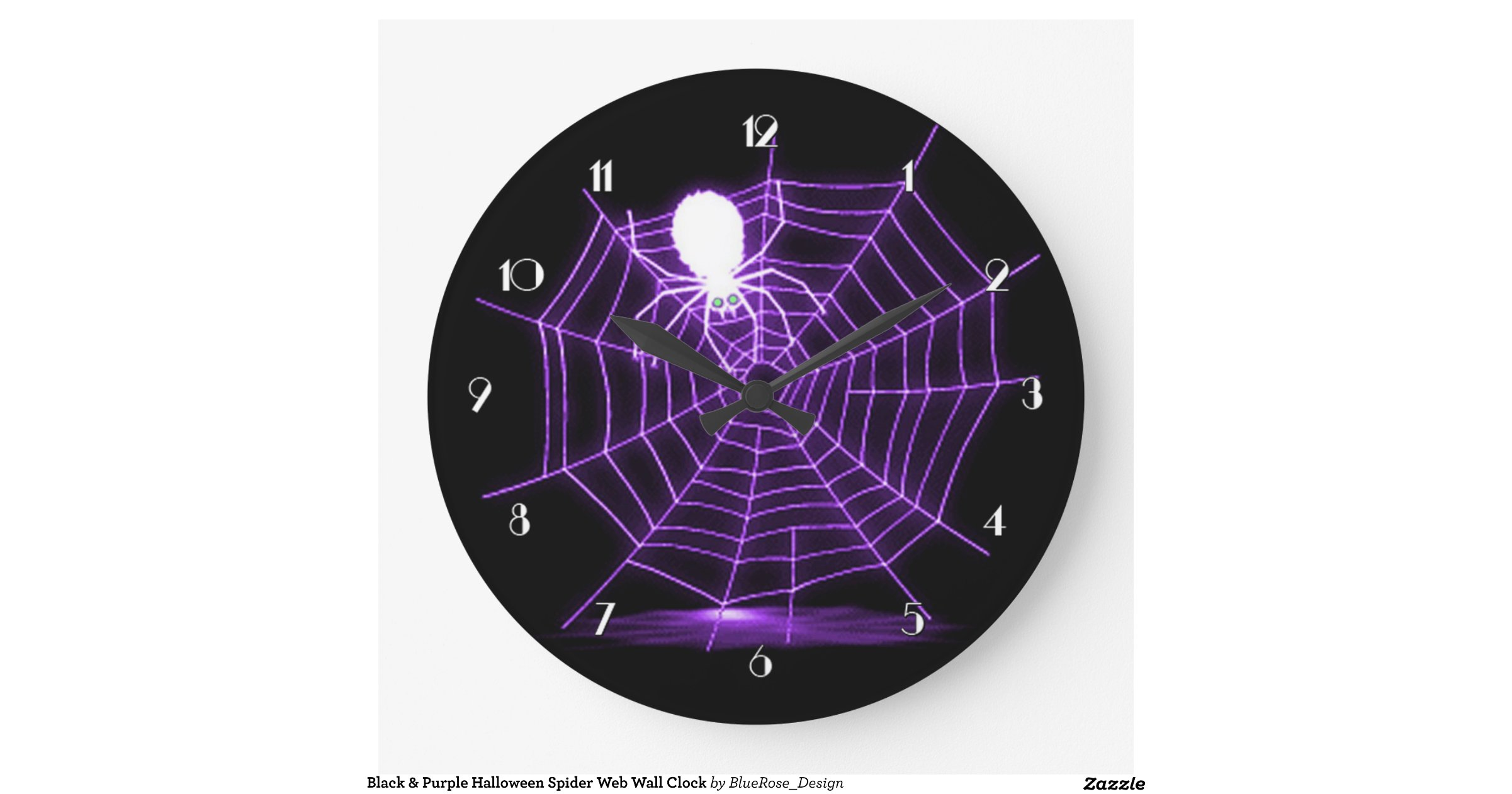 Black Amp Purple Halloween Spider Web Wall Clock Zazzle