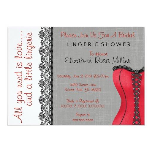Bridal Shower Lingerie Invitations 28
