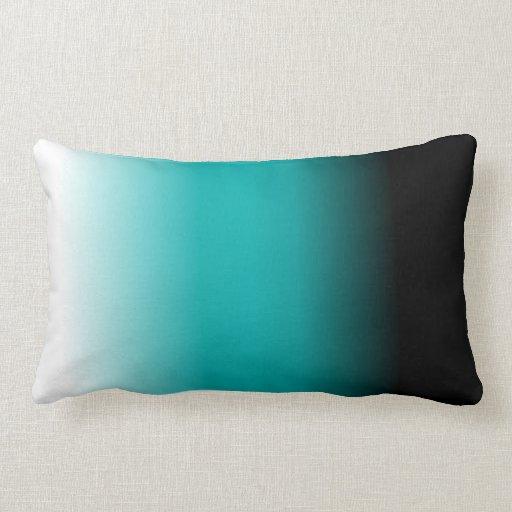 Black Teal White Ombre Throw Pillows Zazzle