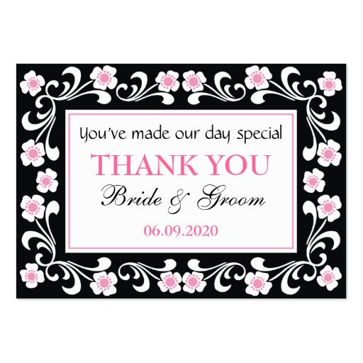 Wedding Gift Thank You Cards: Black Thank You Wedding Favor Gift Tags Large Business