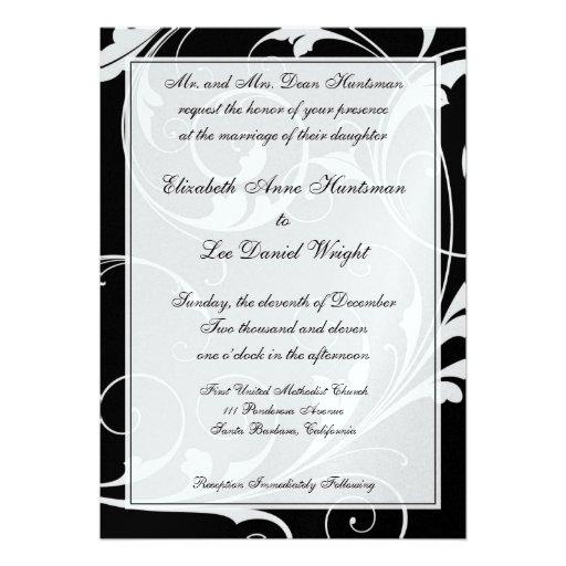 """Black Tie Wedding Invitation Wording: Black Tie Wedding Invitations 5"""" X 7"""" Invitation Card"""