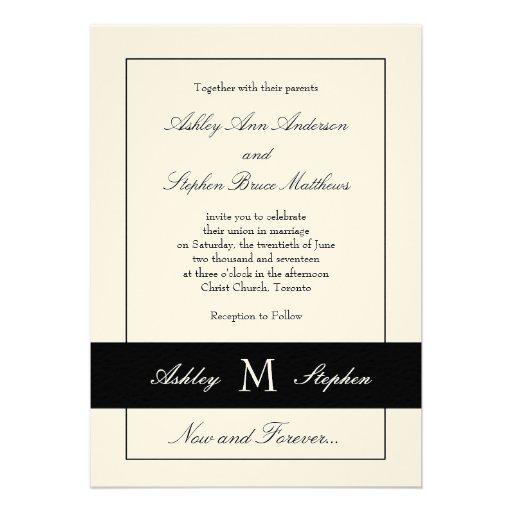 Black Traditional Wedding Invitation