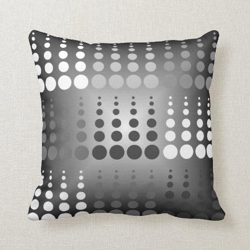 Black White And Gray Circle Pattern Throw Pillow Zazzle