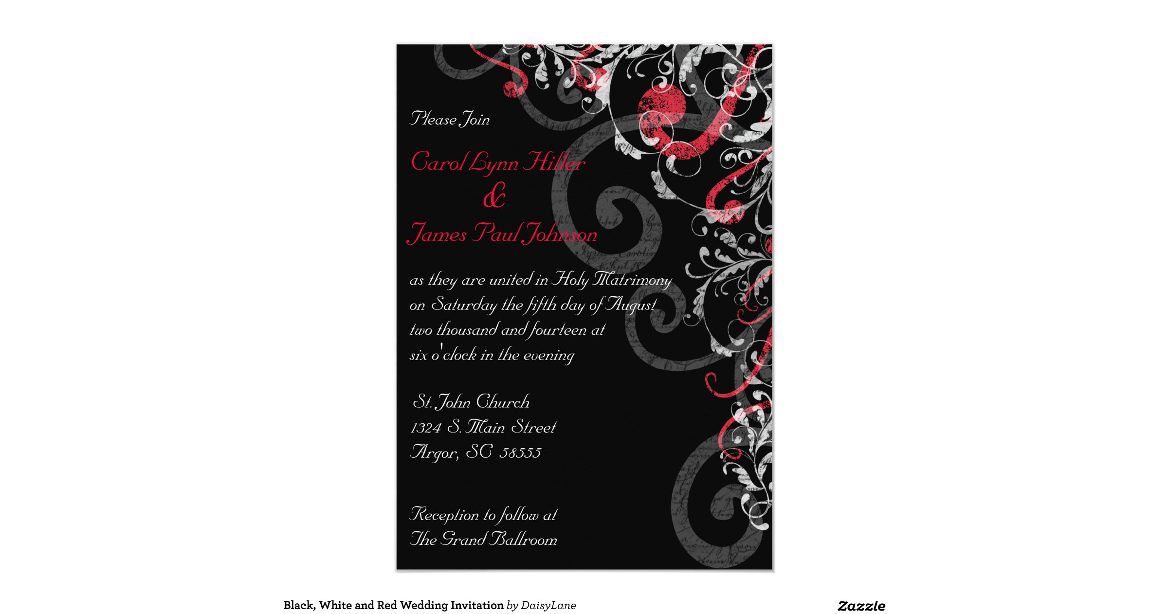 White And Red Wedding Invitations: Black_white_and_red_wedding_invitation