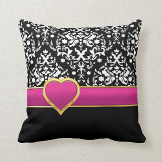 Pink And Black Pillows Pink And Black Throw Pillows Zazzle
