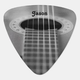 Plaid Red Gray Grey Pattern Novelty Guitar Picks Medium Gauge Set of 6