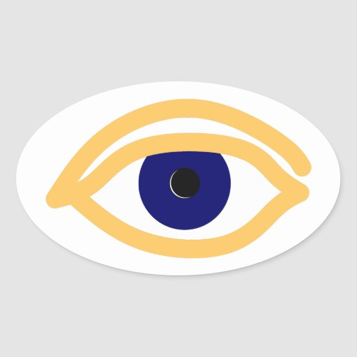 blaues auge blue eye oval sticker zazzle. Black Bedroom Furniture Sets. Home Design Ideas