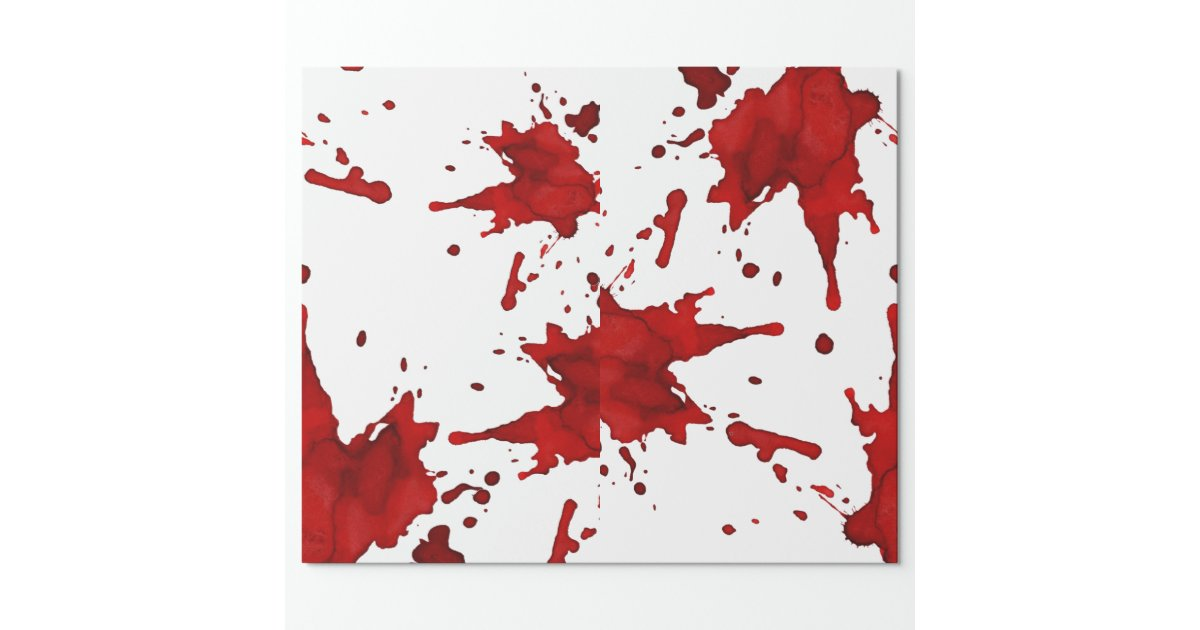 Blood Splatter Wrapping Paper Zazzle
