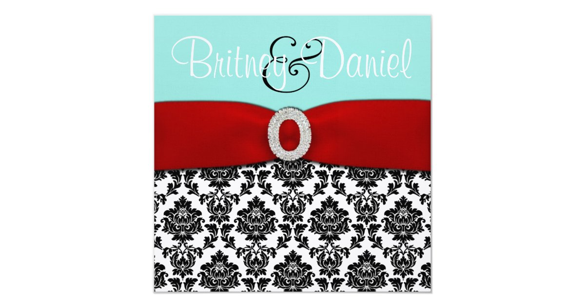 Red White And Blue Wedding Invitations: Blue And Red Wedding Invitations