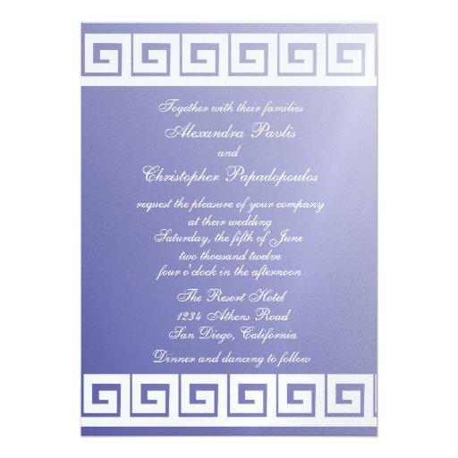Personalized Greek Wedding Invitations