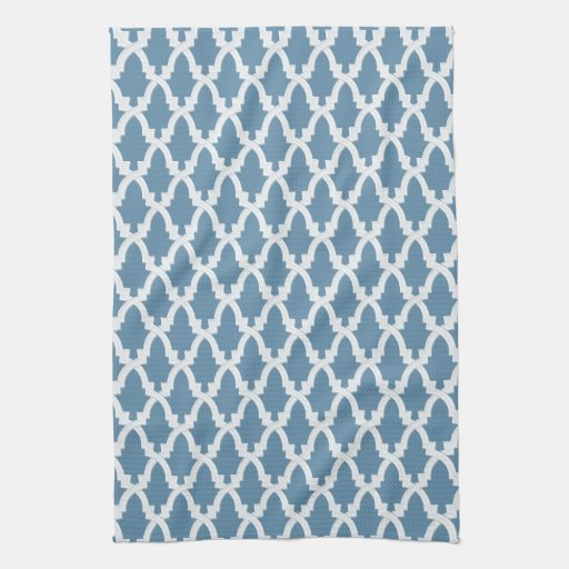 Blue And White Lattice Kitchen Towel
