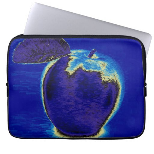 Blue Apple Laptop Computer Sleeve | Zazzle