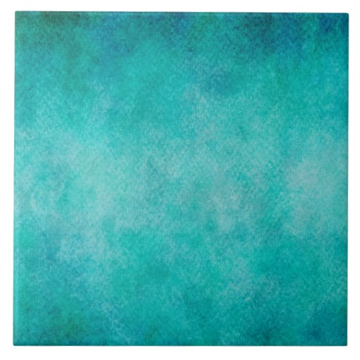The Texture Of Teal And Turquoise: Blue Aqua Teal Watercolor Paper Colorful Texture Tile
