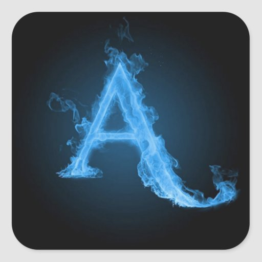 The gallery for --> Blue Fire Letter A