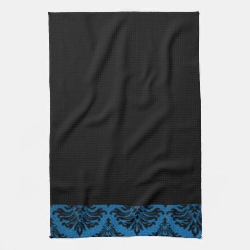 Blue Black Kitchen Towels
