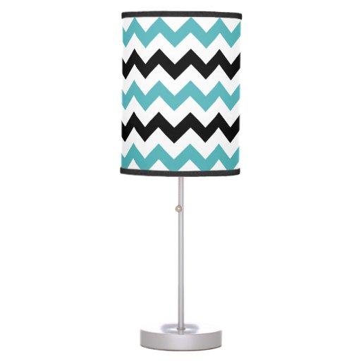 Blue Black Amp White Chevron Table Lamp Zazzle