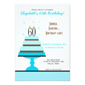 60th Birthday Party Invitations Amp Announcements Zazzle