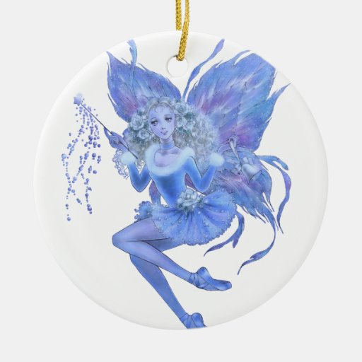 Blue Christmas Fairy Ornament | Zazzle