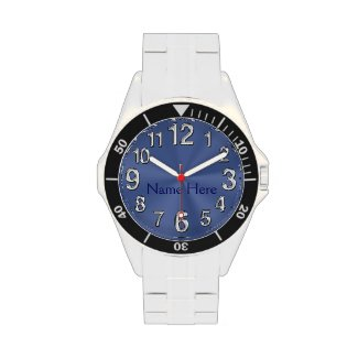Blue Face Watches for Men on Stainless Steel Watch