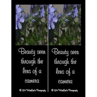 Blue Flower Bookmarks Postcard postcard