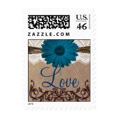 Custom Wedding Postage Stamps - Rustic Country Wedding