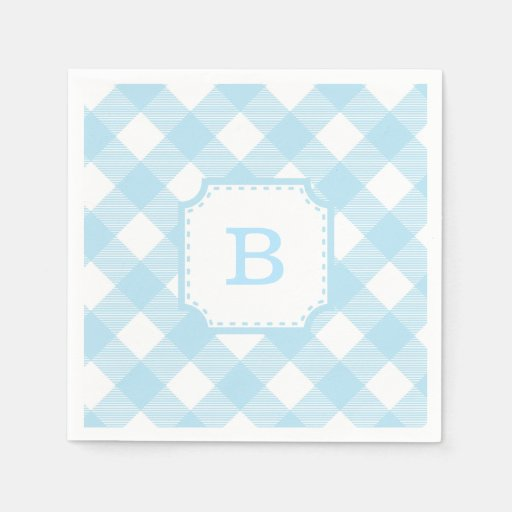 gingham luncheon paper napkins