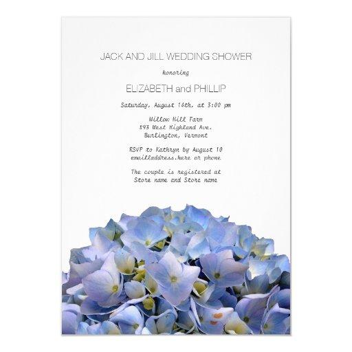 Blue Hydrangea Jack And Jill Wedding Shower Card