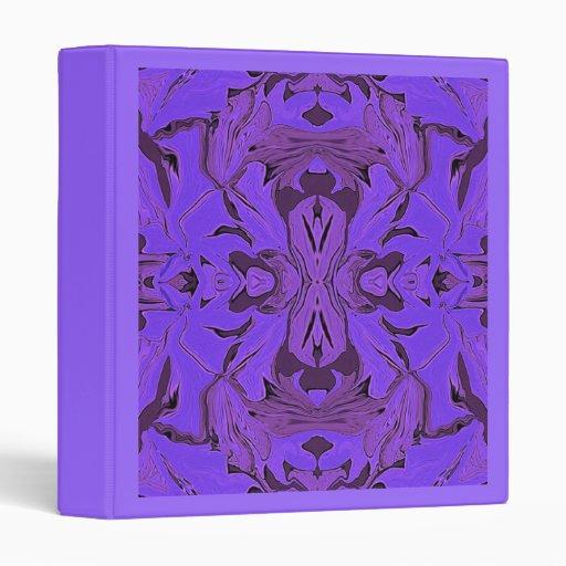 Blue Amp Lavender Kaleidoscope Design Avery Binder Zazzle