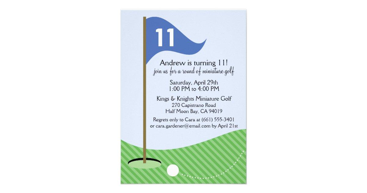 blue let 39 s par tee miniature golf birthday party custom. Black Bedroom Furniture Sets. Home Design Ideas
