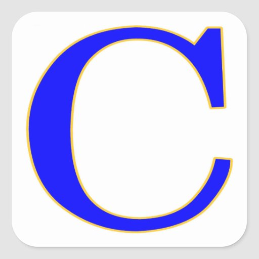 blue letter c sticker zazzle