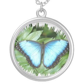Blue Morpho necklace