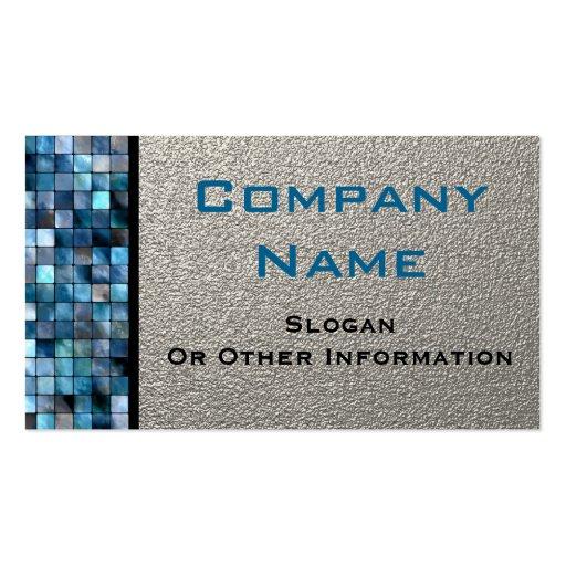 Blue Mosaic Tiles Business Cards Zazzle