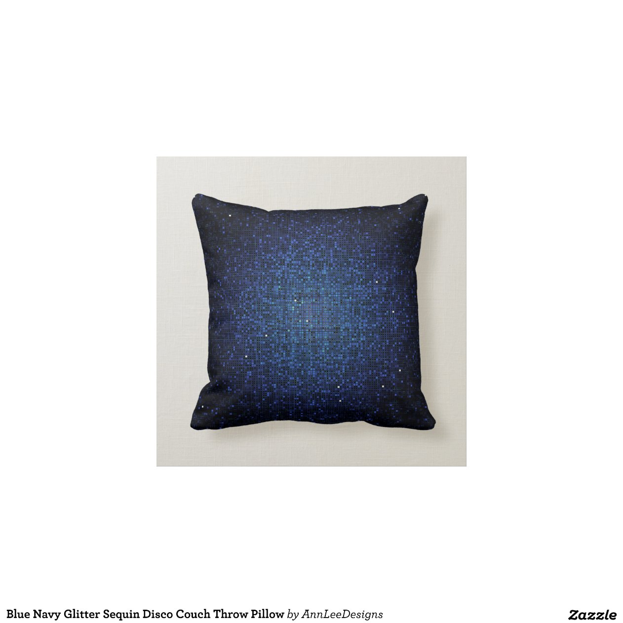 Blue Navy Glitter Sequin Disco Couch Throw Pillow Zazzle