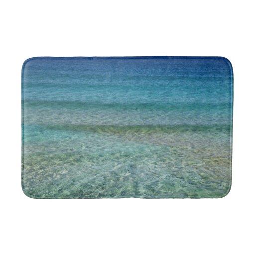 Blue Ocean Water Bath Mat Rug Zazzle
