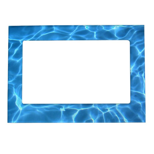 Blue Pool Pattern Magnetic Picture Frame Zazzle
