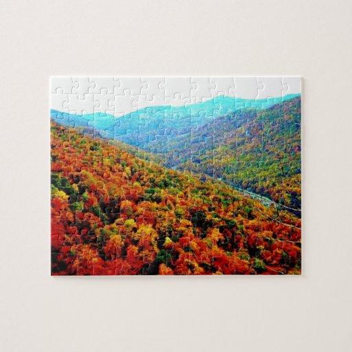 Coca Cola Gifts >> Blue Ridge Mountains Scenery Jigsaw Puzzle | Zazzle