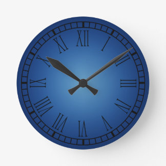 Roman Numerals Wall Clocks Zazzle