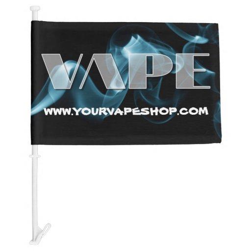 Blue Smoke Vape Shops Website Promote Car Flag | Zazzle