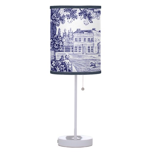 French Country Blue Lamps