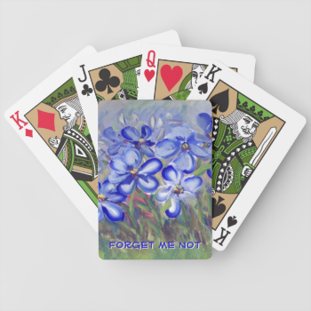 Blue Wildflowers in a Field Fine Art Painting Bicycle Playing Cards