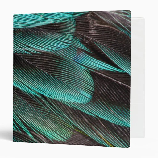 Blue Wing Covert Feathers 3 Ring Binder