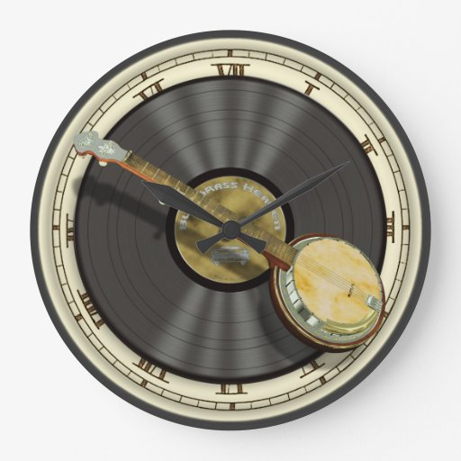 Bluegrass Banjo Wall Clock