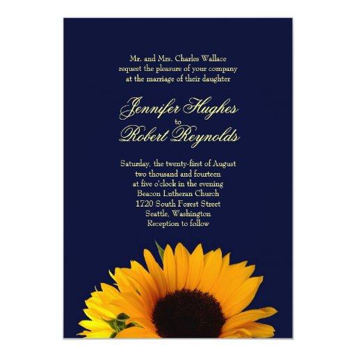 Www Zazzle Com Wedding Invitations: BlueII Sunflower Wedding Invitation