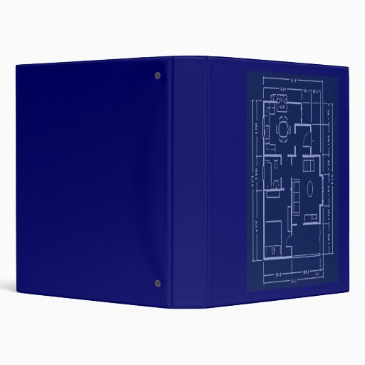 Blueprint - House Plan Vinyl Binders