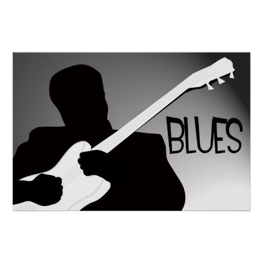 Blues player s silhoue...