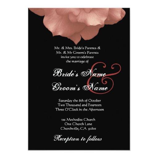 BLUSH PINK Rose Petals Wedding Invitation
