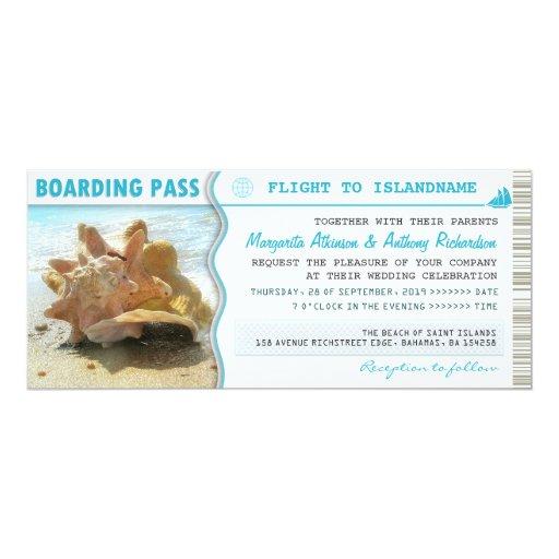 Plane Ticket Wedding Invitations: Boarding Pass Ship Boat Ticket Wedding Invitations