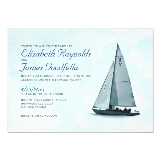 Sailboat Wedding Invitations: Boat Wedding Invitations