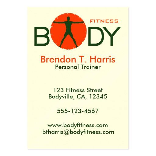 Body madness personal trainer large business cards zazzle for Personal trainer gift certificate template