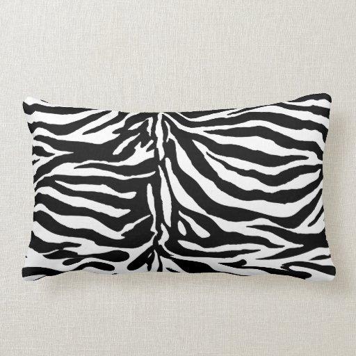 Aninimal Book: Bold Black and White Zebra Pattern Pillows | Zazzle